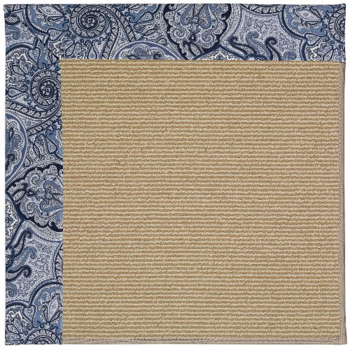 Capel Rugs Sisal Rug (Capel Rugs Zoe-Sisal 5 x 8 Rectangle Machine Tufted Area Rug, Cobalt Blue)