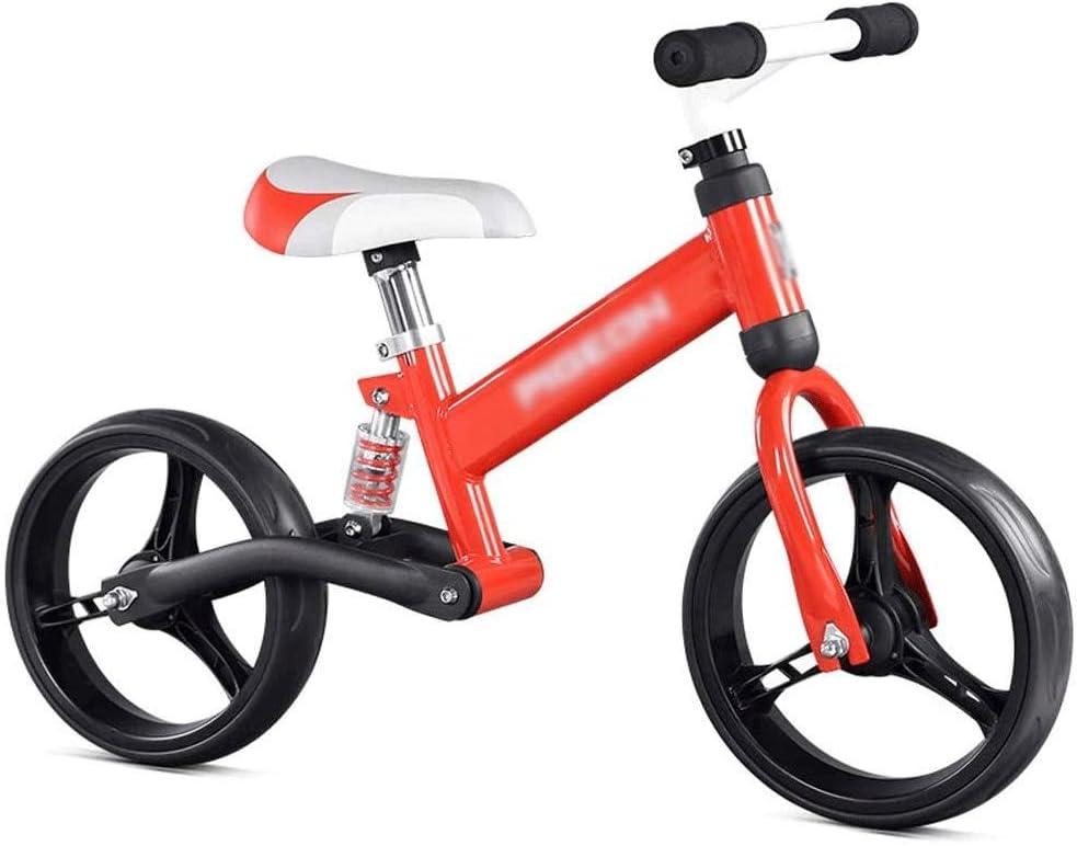 ZQY Amortiguación Kids Bike Balance Sin Pedal Andador Entrenamiento de la Bicicleta Desmontable de Acero al Carbono, Cultivar Equilibrio y la coordinación Ejercicio en los niños (Color : B)