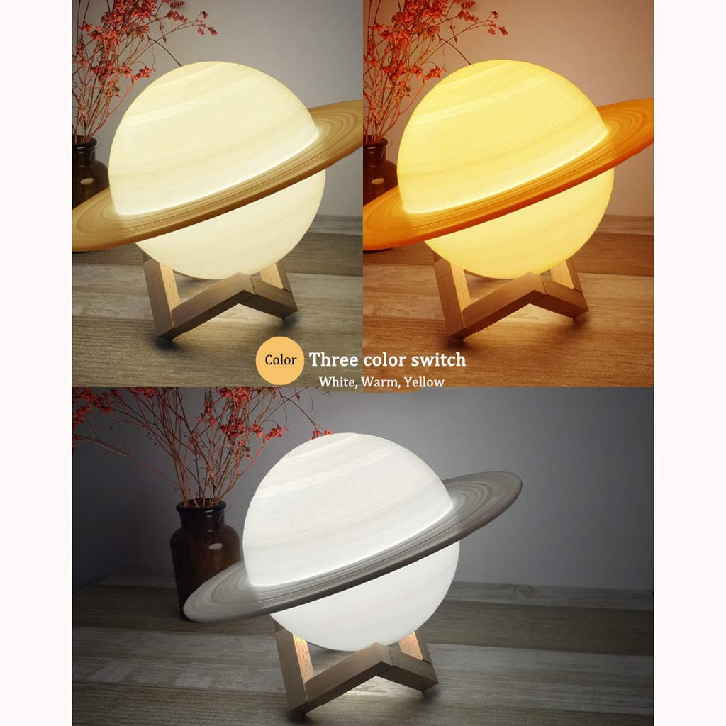 ZDVHM 3D Lámpara ilusión Moon 3D Printing Luz de Noche for niños ...