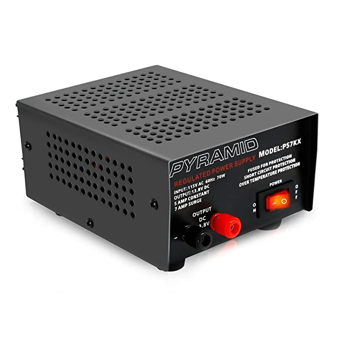 Amazon Com Universal Compact Bench Power Supply 5 Amp Linear