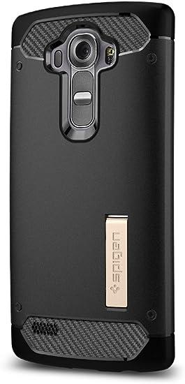 Spigen Funda LG G4, [Rugged Armor] Resistente [Negro] Protección ...