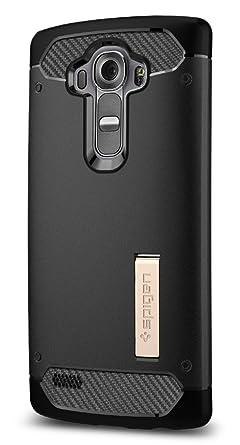 best website 7a309 43620 Spigen Rugged Armor LG G4 Case with Resilient Shock Absorption Carbon Fiber  Design Soft Case for LG G4 2015 - Black