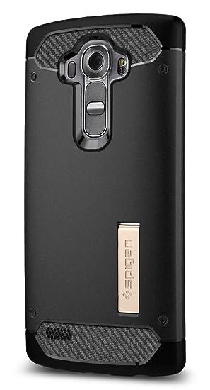 spigen Funda LG G4, [Rugged Armor] Resistente [Negro] Protección Robusta Armadura Ultimate y Robusto diseño con Acabado Mate para Carcasa Funda LG G4 ...