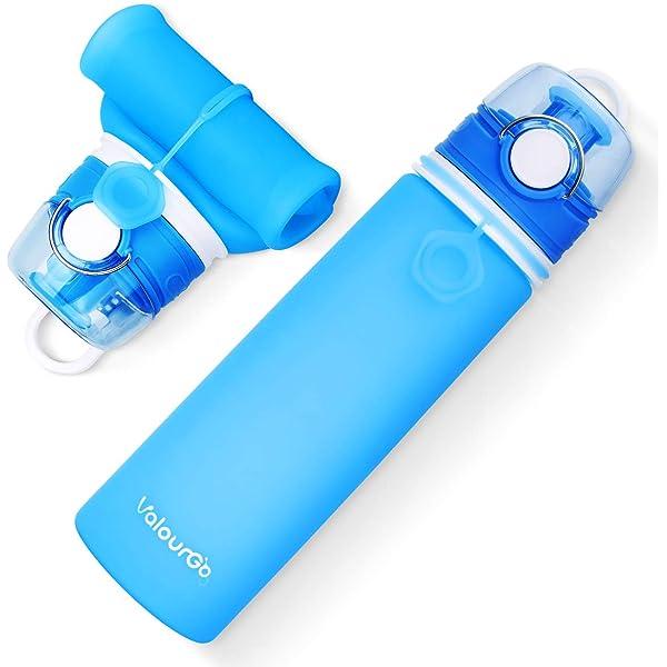 Valourgo 35 oz Collapsible Water Bottle Large bpa Free Travel Water Bottle Reusable Water Bottle Kean