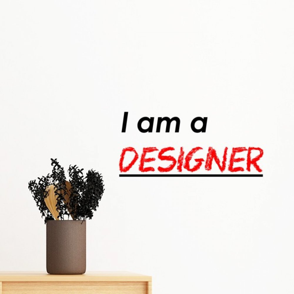 Amazon Quote I Am A Designer Removable Wall Sticker Art Decals