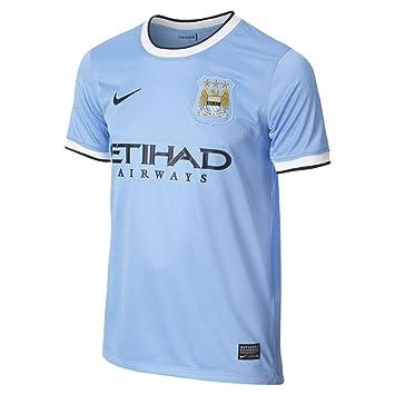 Nike Camiseta de manga corta para niño Manchester City FC para niño ... 3a2918739c119