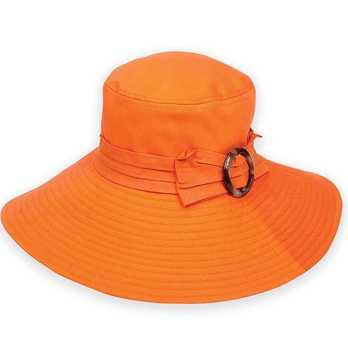 6c2981bd205b8 Sun N  Sand Cayman Cuties Cotton Packable Crushable Hat (F. Orange ...