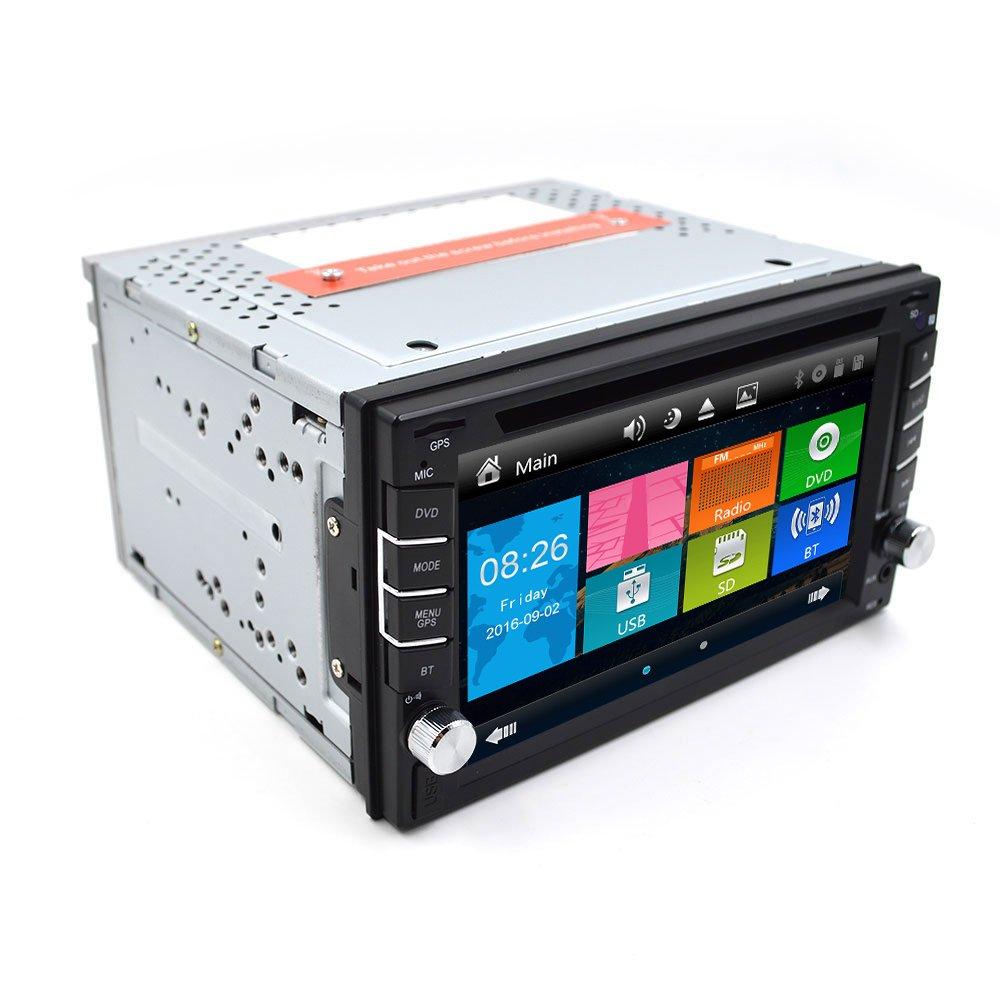 Cámara universal de precipitare 6.2 pulgadas coche Audio Estéreo Bluetooth de navegación GPS micrófono USB para habitación matrimonio 2 Din pantalla táctil ...
