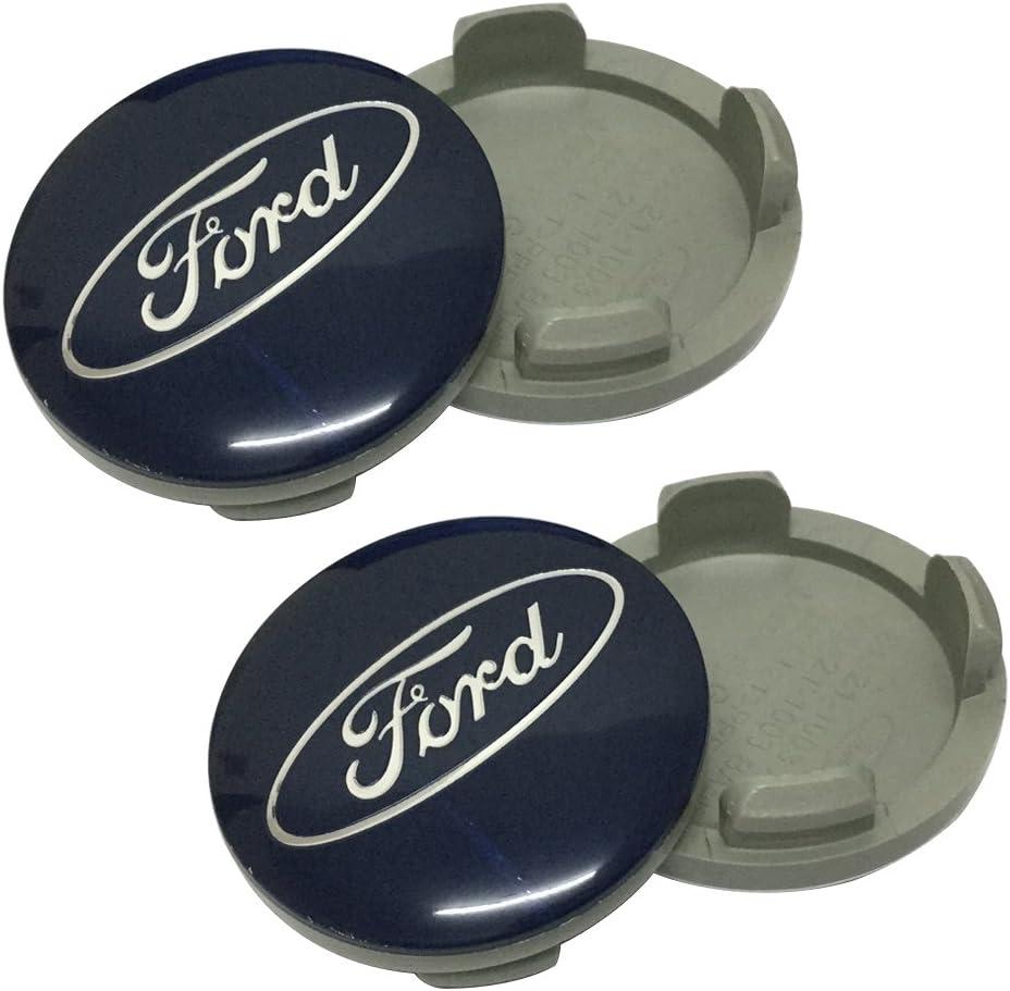 4pcs Blue Color 55mm Wheel Hub Caps Centre Cover Fit For Ford Car Model