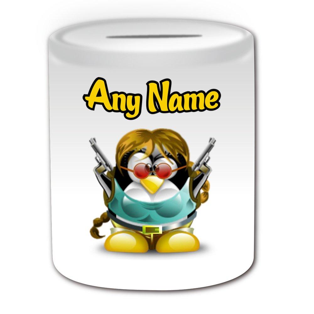 Regalo personalizado – Lara Croft caja de dinero (pingüino ...