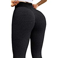 Ssumday Butt Lifting Anti Cellulite Sexy TIK Tok Leggings for Women High Waisted Yoga Pants Tummy Control Workout Tights