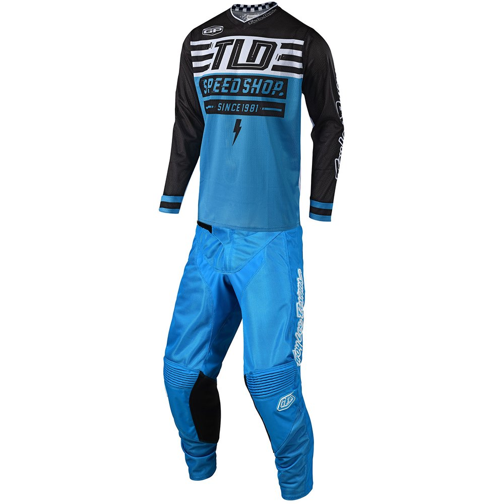 Troy Lee Designs GP Air Bolt Ocean Blue Jersey and Pant Combo - Size MEDIUM/30W