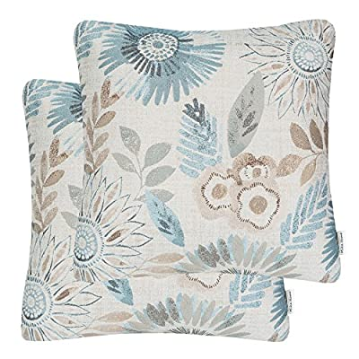 Mika Home Pack of 2 Decorative Throw Pillows Cases Cushion Cover for Sofa Couch Bed,Sunflower Pattern