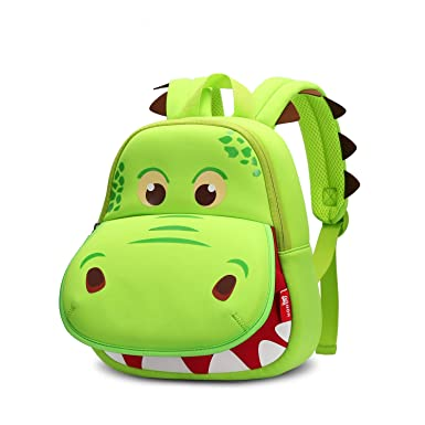 fc69c2398f NOHOO Dinosaur Backpack Green Hippo Kids Toddler Child Cute Zoo Waterproof  3D Cartoon Sidesick Bag for