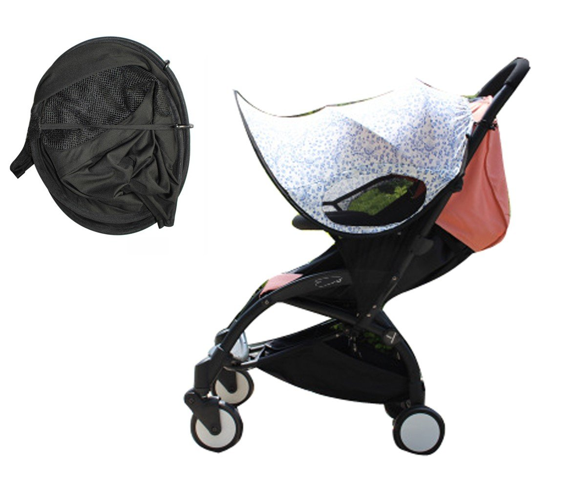 Baby Stroller Sun Ray Shade Pram UV Protection Cover, Weather Shield, Universal, Cotton LYCRAR for Infant Kids- 4 Colors,Blend Color