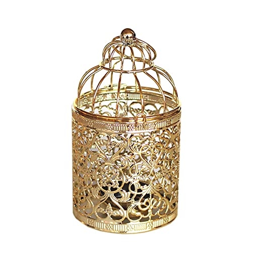 Outflower - Portavelas de estilo vintage, diseño de jaula de ...