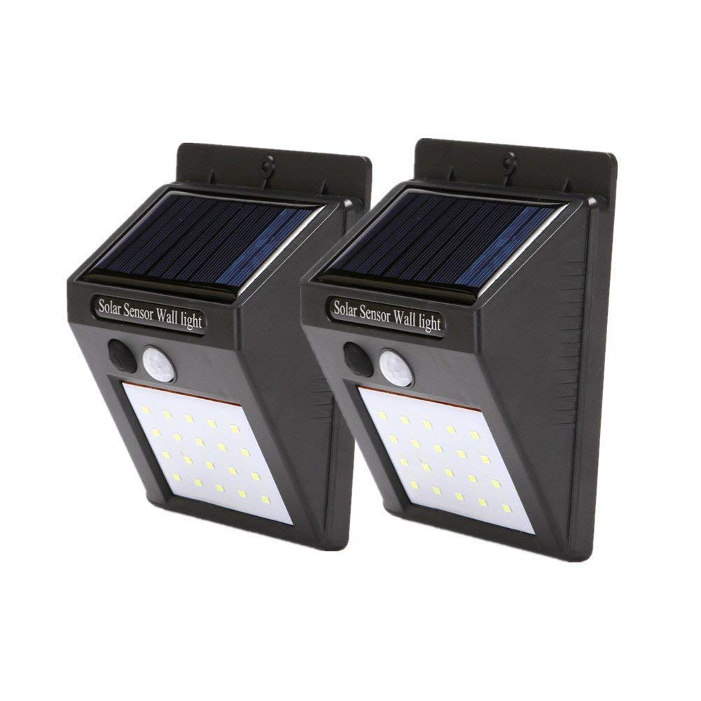 Waterproof Motion Sensor Wall Lights ,LED Outdoor Solar Light,2 PACK Motion Detector Lamp Outdoor Solar Lamp,Automated Switch for Yard Garden Driveway Pathway, Outside Solar Panel,Solar Porch Light