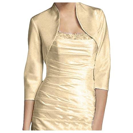 scarpe eleganti prezzo base ricco e magnifico Bolero - TOOGOO(R)Bolero Manica 3/4 Coprispalle Moda - Donna, Oro champagne  L