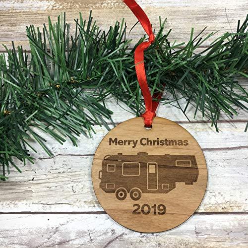 Fifth Wheel Travel Trailer 2019 Merry Christmas Ornament