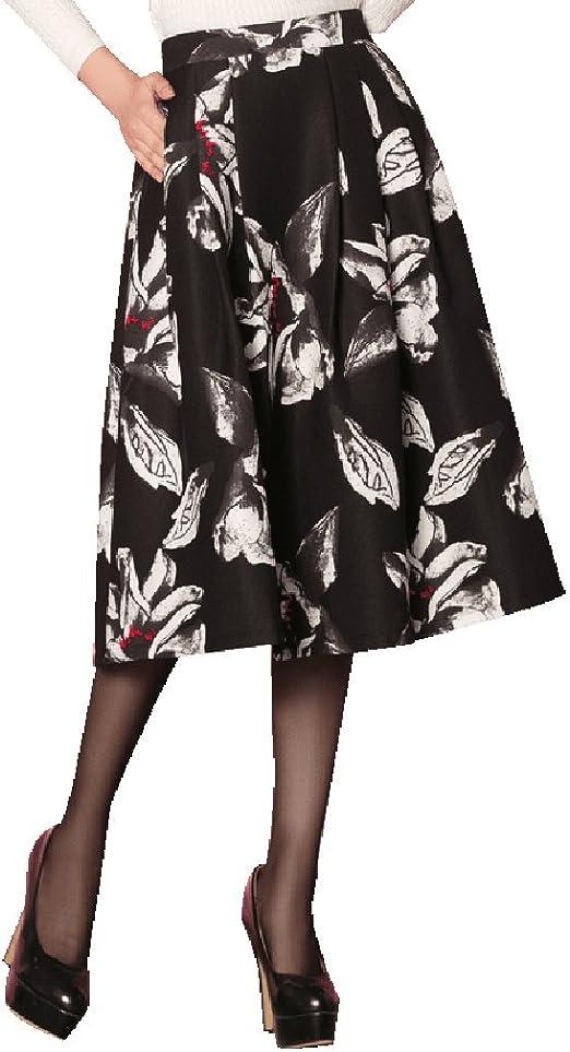 BSQZ JIN Ping® Faldas largas, Bolsillos Laterales cosidos con ...