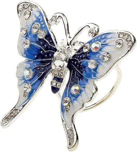 Boucle de Foulard Attache Anneaux Clip avec Perle Fleur Strass Bijoux