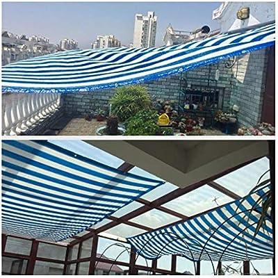 Tela de sombra con cinta adhesiva con ojales Borde azul Red de malla con ojales Sombra de malla de protección solar for pérgola Cobertura Pabellón for invernaderos al aire libre Patio Patio