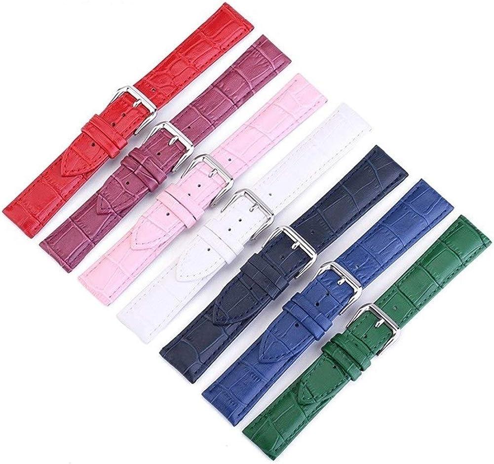 Augus Jacob Bracelet de montre Montre Bracelet ceinture en cuir véritable femme watchbands bracelet bande Multicolor Regardez les bandes 14mm