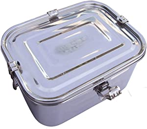 Set of 12 Stainless Steel Rectangular Kimchi Pickle Food Storage Container (3L / 101oz / 9.4 inches) Airtight Leak Proof