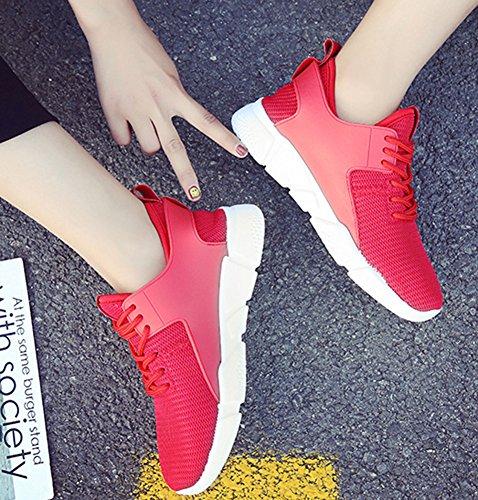Chaussures Sport Rouge Baskets Plates De Mesh Tennis Aisun Femme Mode x4PgwqaB