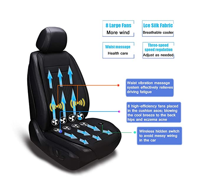 Amazon Cooling Car Seat CushionCooling Cushion With Massage Pad For CarSUV12V Automotive