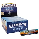 Elements King Size Ultra Thim Slim Rice Rolling Papers - 10 Booklets