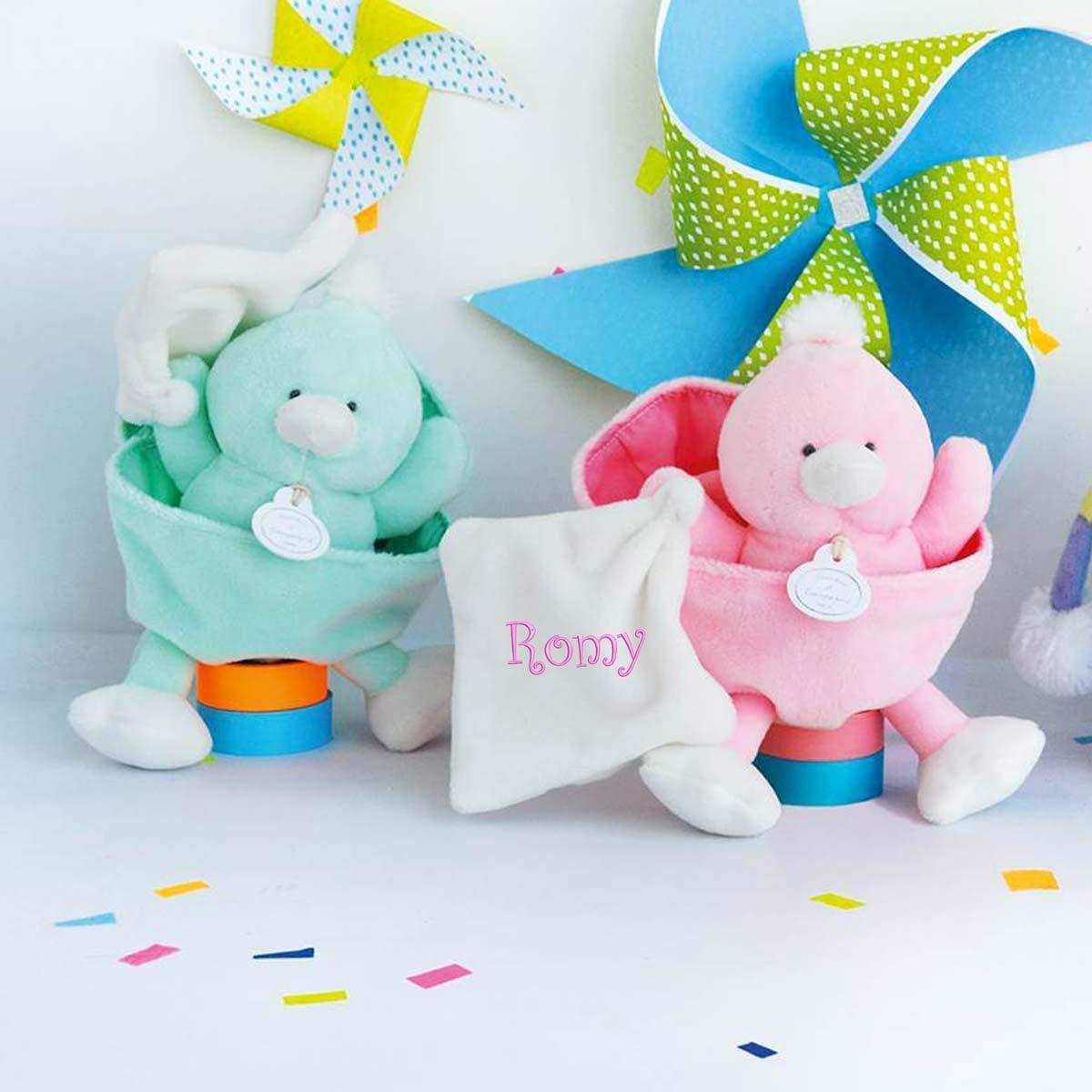 Doudou à broder avec le prénom de votre choix - Doudou poussin - cadeau liste de naissance - cadeau personnalisé naissance