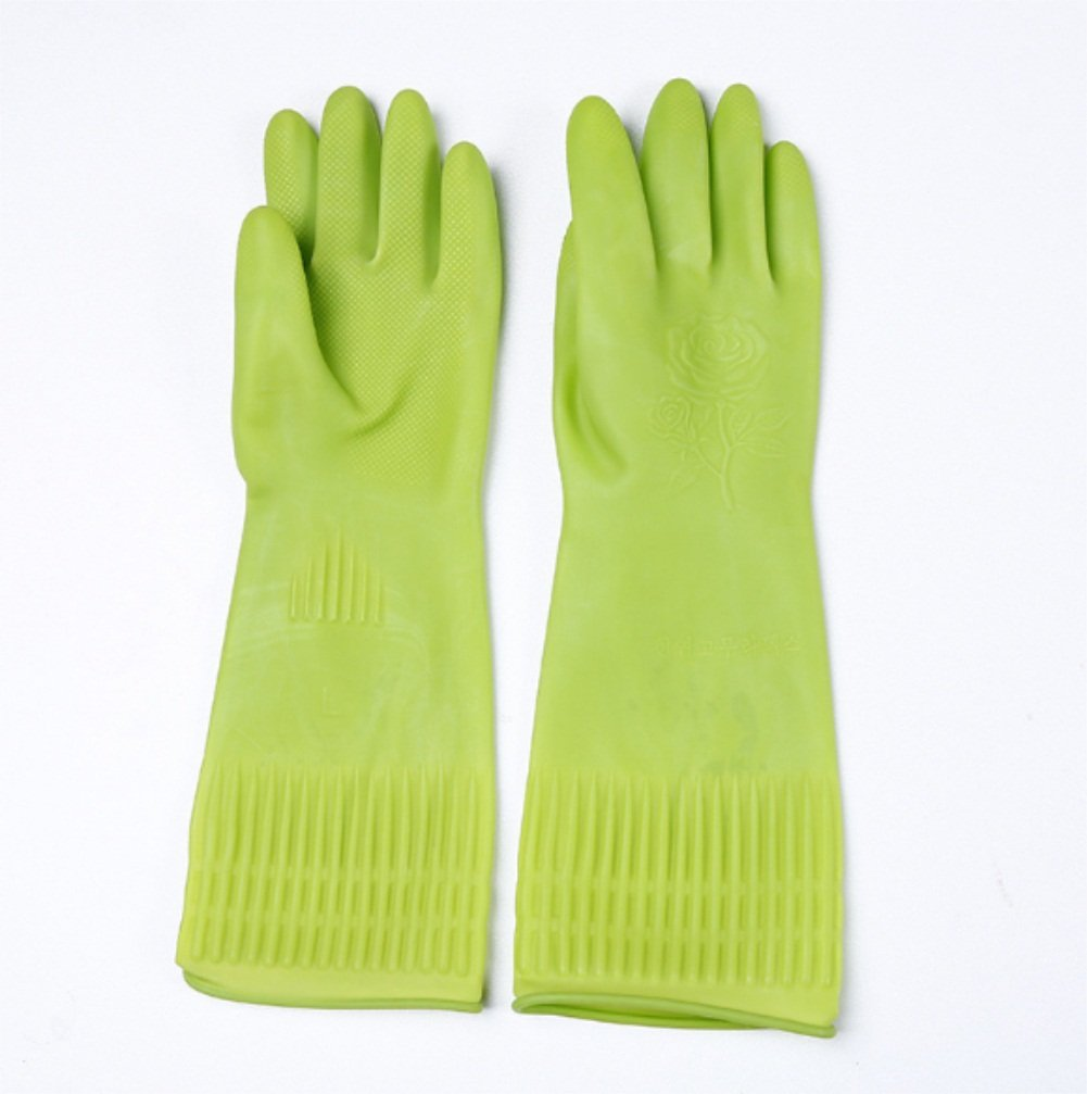 Pack 6 Pairs Finesse Professional Extra Wear Rubber Gloves Latex Large Size