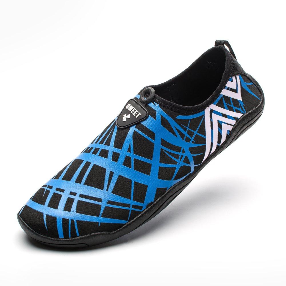 QMEET Water Shoes Mens Womens Beach Shoes Quick Dry Barefoot Aqua for Swimming Driving Boating Yoga Pool Walking Running