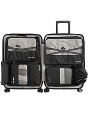 Ensemble de 7 Organisateurs de Voyage emballant des Cubes Sac de blanchisserie Bagage Sacs de Compression Sac dans Le Sac Organisateur pour des vêtements