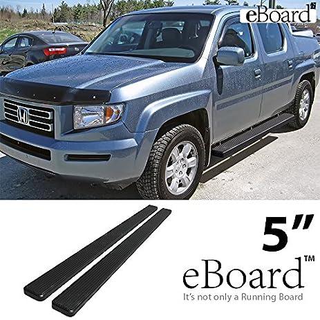 EBoard Running Boards Black 5u0026quot; Fit 2006 2014 Honda Ridgeline Crew Cab  Pickup 4