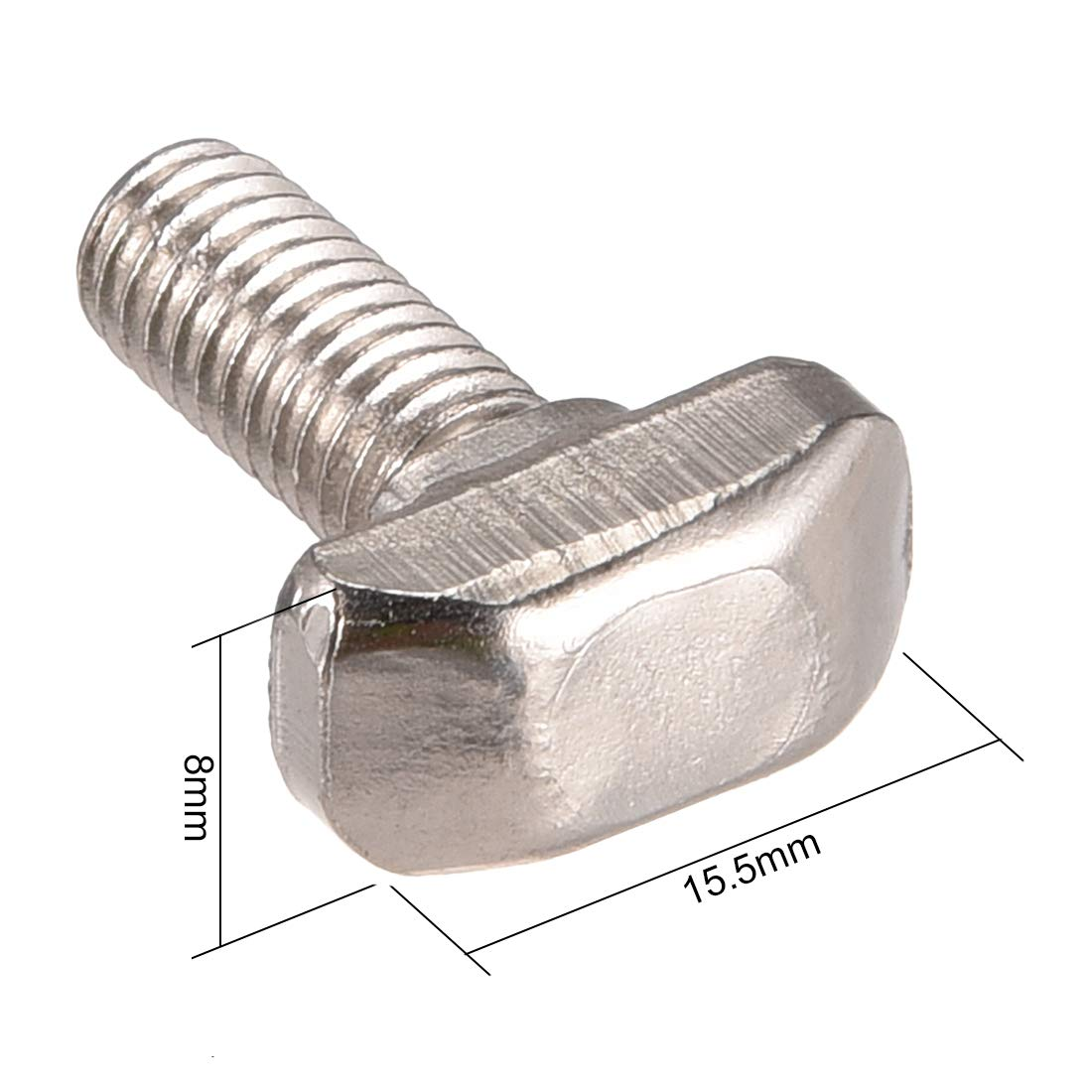 Tornillo de rosca de 20 mm con ranura en T acero al carbono, serie 30 Sourcingmap M6