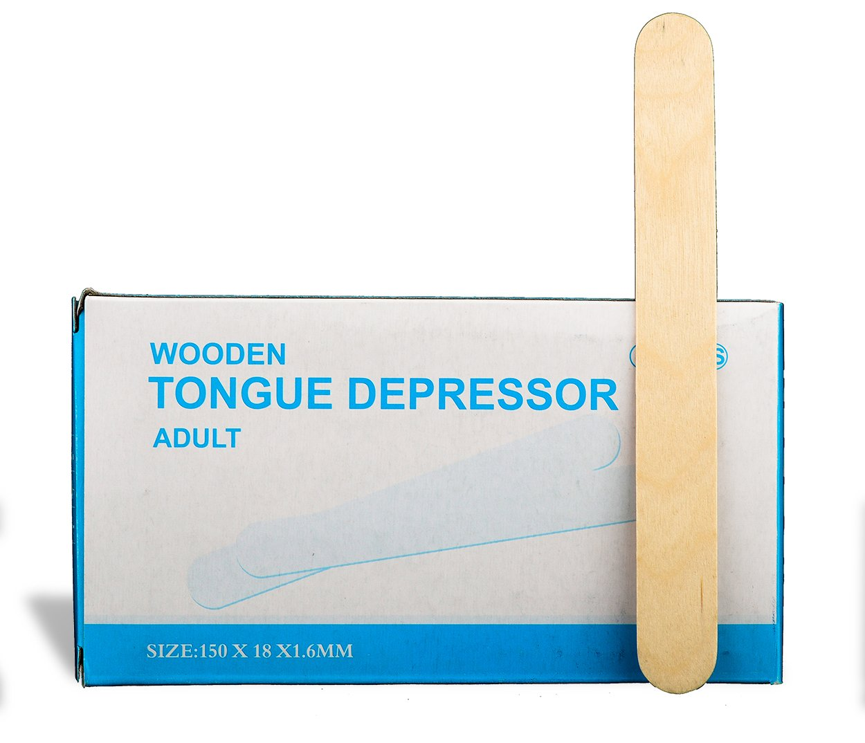 TONGUE DEPRESSOR Chemical FREE _ Non splinter _ Non-Sterile _ 2 CASES=100 boxes=10000pcs _ MADE OF HIGH GRADE BIRCH, WOODEN CRAFT STICKS. Manufactured By P&P Medical Surgical LLC