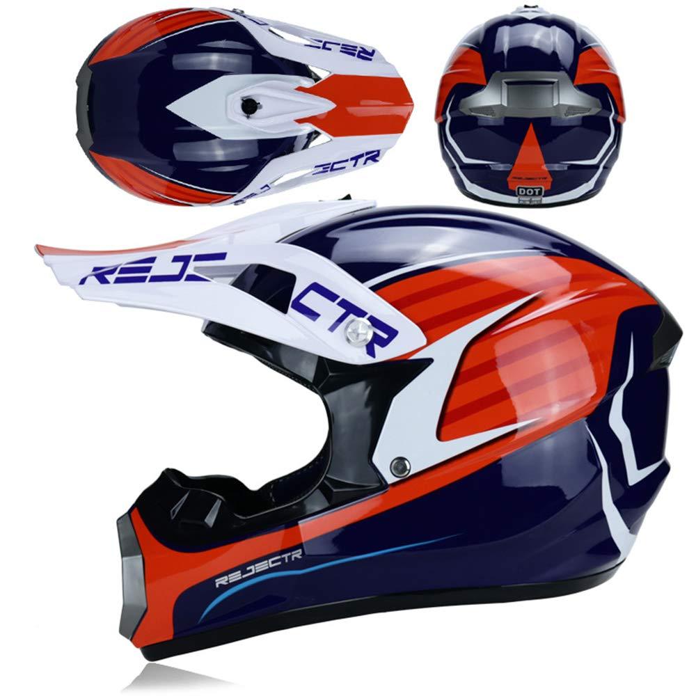 NGB Casque de Motocross Off Road Moto Casque ATV Cross Dot Casques Moto Crossbike Enduro Sport avec Gants Storm Masque et Lunettes 7 Style