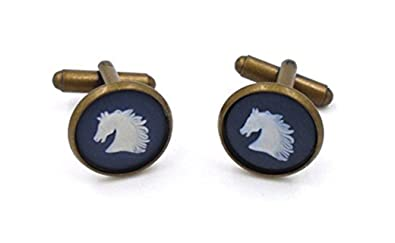 7a1e006254f3 Image Unavailable. Image not available for. Color: Wedgwood Authentic  Bronze Jasperware Cufflinks ...