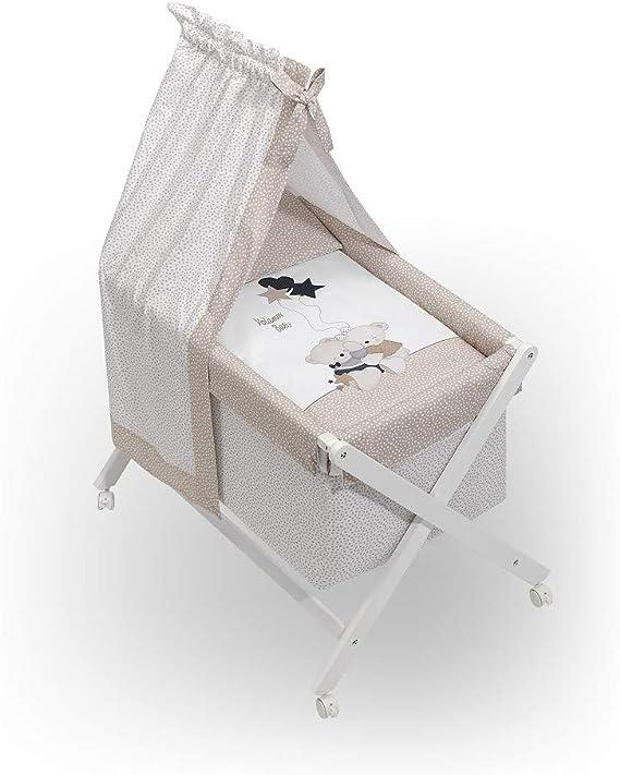 Minicuna Dosel Volamos Baby Beige con Textil: Amazon.es ...