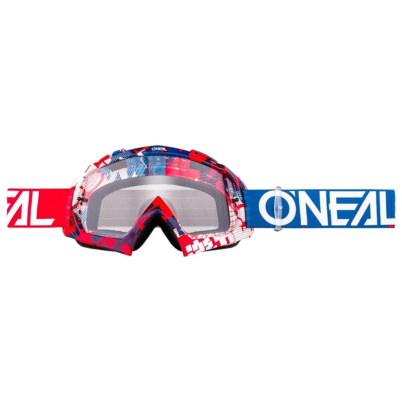 O'Neal B-10 Goggle Pixel Crossbrille Klar Motocross DH Downhill MX Anti-Fog Glas, 6024-30 Farbe blau O' Neal 6024-303O