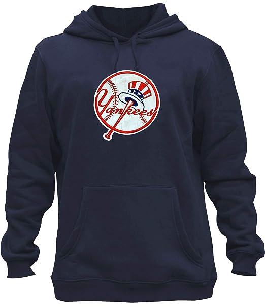 more photos c288a ac846 AFSJEEP Mens Yankees Embroidery Heavy Soft Sweatshirt Hoodie