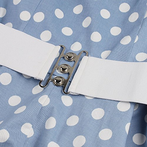 MicBridal - Vestido - trapecio - para mujer Azul