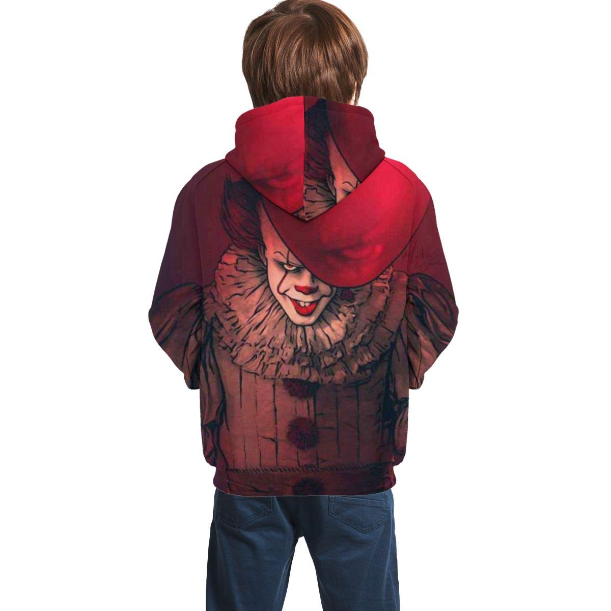 Rebrseecca Mo Kids//Youth Hoodies Pen-Nywi-Se 3D Print Unisex Plus Velvet Pullover Hooded Sweatshirts for Boys//Girls//Teen