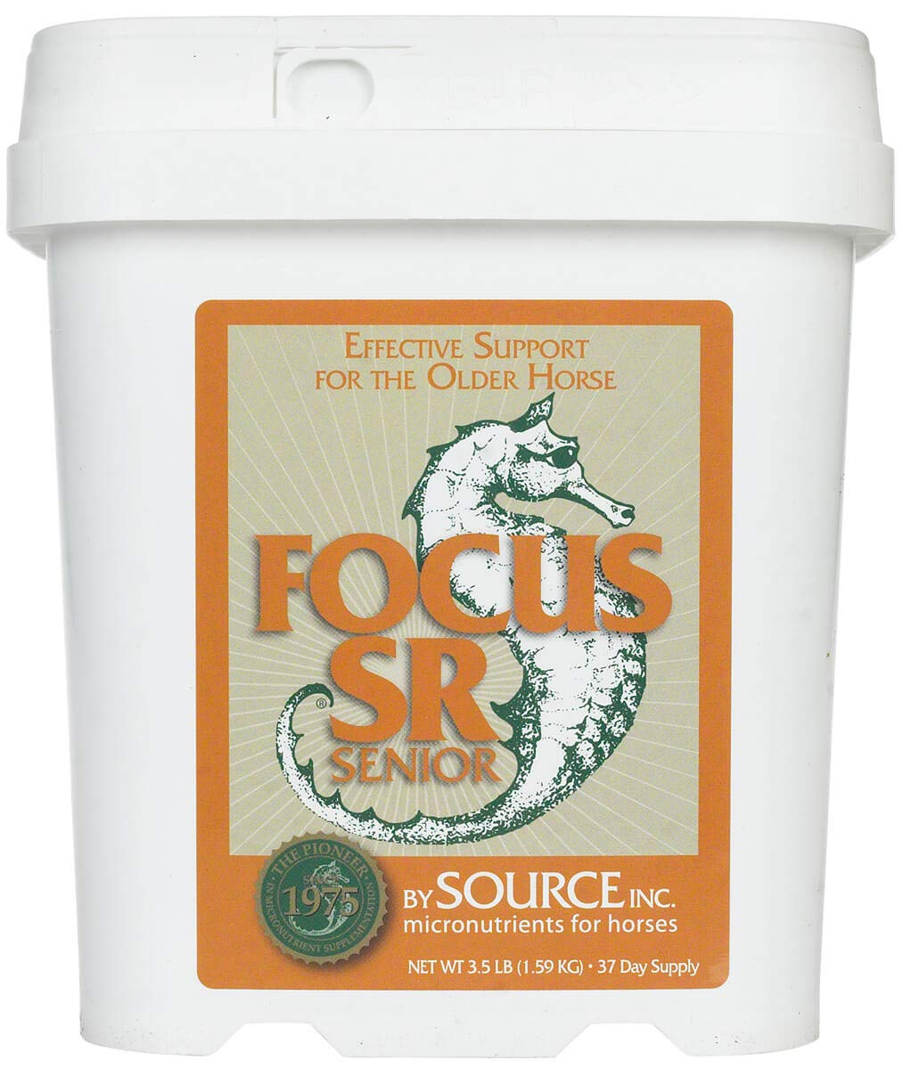 Focus 3.5 lb SR Senior Equine Supplement to Help Maintain Weight, Energy and Good Overall Health by Source INC.