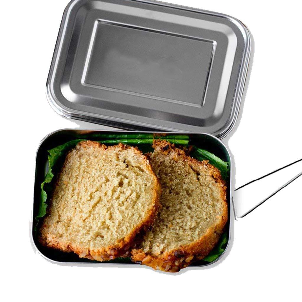 OldPAPA Acciaio inossidabile Porta pranzo Scatola pranzo scatola Bento Lunch Box con 2 scomparti Vchoco