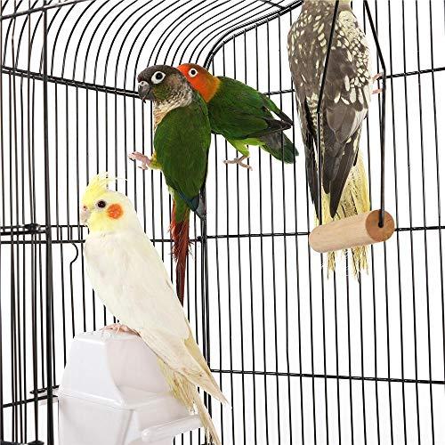 Yaheetech 36'' Medium Size Quaker Parrot Bird Cage Cockatiel Indian Ring Neck Sun Parakeet Green Cheek Conures Lovebirds Budgies Canary Finch Parrotlet Portable Bird Cage, Black