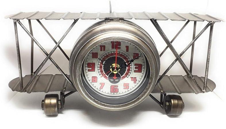 DiiliHiiri Reloj Vintage avioneta, Small Plane de Mesa, Reloj de ...