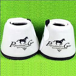 Professionals Choice Equine Quick Wrap Hoof Bell Boot, Pair (Medium, White)